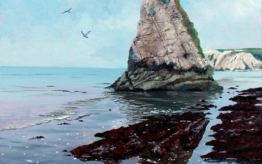 Isle of Wight – 7 night Water-Mixable Oil Painting Holiday with HF Holidays at Freshwater Bay – August 24th to 31st 2019