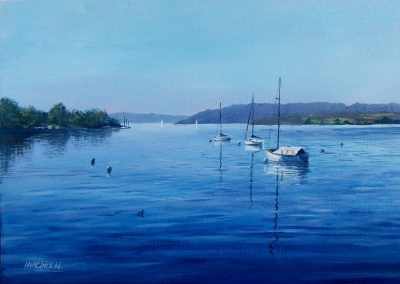 Next Step Pen & Ink Drawing, 4 Night Holiday with HF Holidays in the Northern Lake District – Derwentwater – November 18th to 22nd 2019